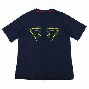 John UNDERCOVER ジョンアンダーカバー 16SS スカル刺繍 Tシャツ 3 ネイビー