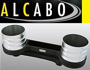 【M's】W211 Eクラス/W219 CLSクラス ALCABO 高級 ドリンクホルダー(シルバー)//灰皿対応品 アルカボ カップホルダー AL-M302S ALM302S