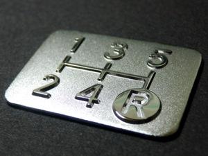 送料無料 メッキ 5MT シフト パターン プレート 5速マニュアル NB6C NA6CE NA8C RX-7 FD3S FC3S SA22C NCEC DE5FS DJ3FS DY5W BK5P CBAEP