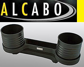 【M's】W219 CLSクラス/W211 Eクラス ALCABO 高級 ドリンクホルダー(ブラック)/灰皿対応品 アルカボ カップホルダー AL-M302B ALM302B