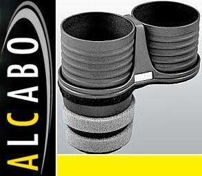 【M's】W204 ベンツ AMG Cクラス(2007y-2013y)ALCABO 高級 ドリンクホルダー(ブラック)/S204 C204 純正ポケットのリア側 AL-T108B ALT108B