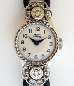 】E【<】SMITHS 1960プラチナ&ダイヤモンド15石【保証付】
