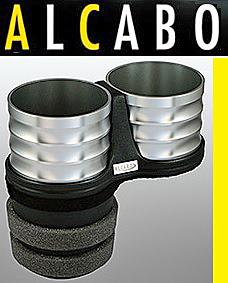 【M's】W204 Cクラス(2007y-2013y)ALCABO 高級 ドリンクホルダー(シルバー)//ベンツ AMG 純正ポケットのフロント側用 AL-M312S ALM312S