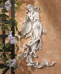 夏の風の妖精レリーフ/ ブリアンナ 涼しげな妖精の壁掛け レリーフ彫刻 彫像(輸入品)レストラン カフェ 玄関 新築祝い プレゼント 贈り物