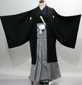 紋付羽織袴フルセット 男性用 ポリエステル 7日間レンタル(株)安田屋 NO171011
