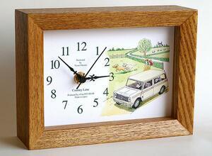 ◎〓◎置時計8 カントリーレーン(クラブマンミニ・ホワイト)
