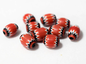 *  Захватывающие   Регистрация знака  драгоценный камень  *  ...! Vintage Красный 5 ...  драгоценный камень 10 шт  набор   стекло   Античные бусы