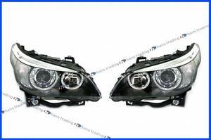 BMW 5シリーズ E60 E61 M5 後期 LCI キセノンヘッドライト 左右セット HELLA製 純正OEM キセノンヘッドランプ 新品 左側通行用 日本仕様