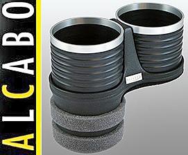 【M's】W219 ベンツ AMG CLSクラス(2005y-2010y)ALCABO 高級 ドリンクホルダー(BK+リング)/アルカボ カップホルダー AL-B109BS ALB109BS