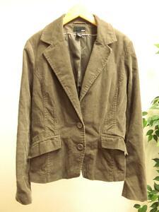 H&M コーデュロイ デザイン テーラード ジャケット 茶 ブラウン 40 エイチアンドエム レディース VB1802-608