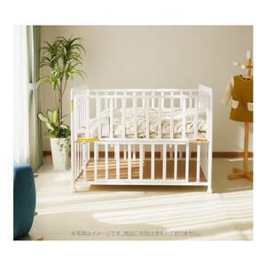 新品【ベビーベッド】赤ちゃんベッド/ホワイト/3段調整/キャスター付/白色/ベビーベット/収納スペース/ベビーフェンス/出産祝い