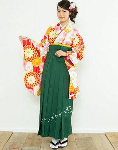 二尺袖着物袴フルセット 矢羽 花柄 卒業式に 新品 (株)安田屋 NO23220