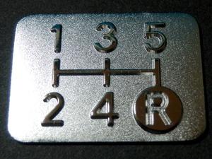 Tuningfan メッキ シフトパターン プレート 5MT 5速マニュアル車 L880K L235S L700S S321V LA400K コペン エッセ ミラ オプティ ハイゼット