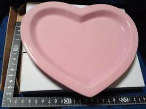 超素敵♪陶器製♪トキメキ♪ハート型♪プレートどすぅ~♪ピンク♪