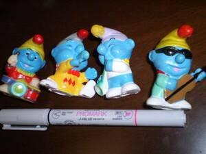 新品 スマ―フ ソフビ フィギュア 指人形 バンド 楽器 まとめて SMURF アメコミ us toy レア 海外キャラクター ビンテージ figure doll