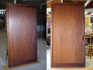 -ply thickness . zelkova. warehouse door / one sheets board / table tabletop V antique fittings old Japanese-style house