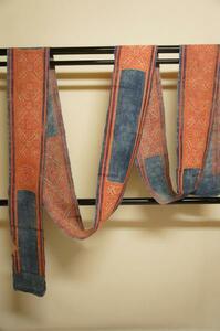 特選メオ族手織り大麻布木綿正絹手刺繍希小品E4922