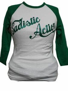 サディスティックアクション Sadistic Action レディース7分袖Tシャツ ラグラン 新品