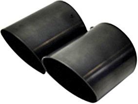 【M's】ミニ R55 R56/KaizerTail マフラーカッター(ブラック)