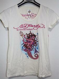 エドハーディー ED HARDY レディース半袖Tシャツ XSサイズ NO400 新品 デビルマーメイド