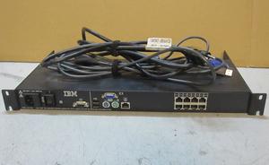 ^IBM консоль переключатель 1735-3LK переключатель кабель (USB) 1 шт. приложен б/у ^