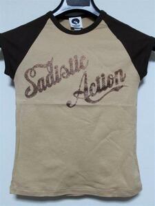 サディスティックアクション SADISTIC ACTION レディース半袖Tシャツ ラグラン Sサイズ 新品