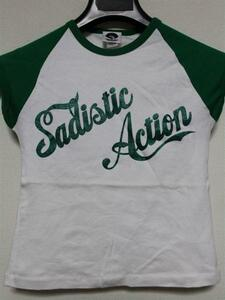 サディスティックアクション SADISTIC ACTION レディース半袖Tシャツ Sサイズ 新品