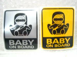 # Volvo * Logo /BABY ON BOARD# baby get into car middle sticker # new goods /VOLVO/