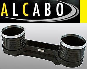 【M's】W211 Eクラス/W219 CLSクラス ALCABO 高級 ドリンクホルダー(BK+リング)/灰皿対応品 アルカボ カップホルダー AL-M302BS ALM302BS