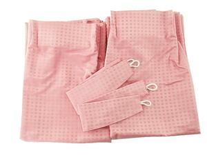 A1141■訳あり ドレープカーテン 遮熱 防音 1級遮光 2枚 幅100x150cm ピンク