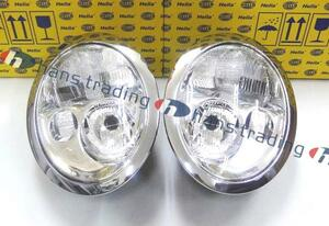 BMW MINI ミニクーパー R50 R53 ハロゲンヘッドライト ハロゲンヘッドランプ 純正OEM 左右セット 6312-6911-701 6312-6911-702