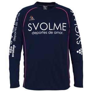 新品即決 SVOLMEスボルメ 長袖プラシャツ XSサイズ ネイビー 173-38200-032-XS