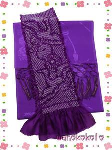 【和のこころキッズ】七五三の着物に◇しごき・帯揚げ◇紫