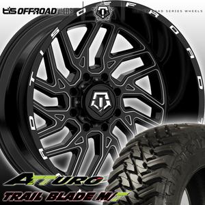 TIS 544BM 22x12J JL JK  Wrangler   увернуться   Агнец   22 дюйма  Грязь  комплект колес  ATTURO TRAIL BLADE MT 33x12.50R22 35x12.50R22
