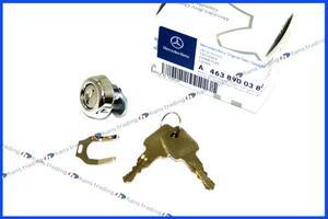 ベンツ Gクラス W463 スペアタイヤカバーキー&キーシリンダーセット/純正品 正規品 新品 シールキャップ 463-890-0389 G320 G500 G55