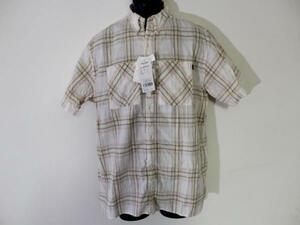 パシフィックコースト PACIFIC COAST メンズ半袖チェックシャツ Lサイズ 新品