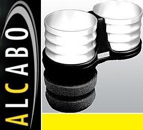 【M's】W204 ベンツ AMG Cクラス(2007y-2013y)ALCABO 高級 ドリンクホルダー(シルバー)//純正ポケットのリア側用 AL-T108S ALT108S