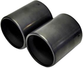 【M's】ミニ R55 R56/Forte Tail マフラーカッター(ブラック)