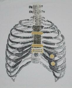 ●シュールなTシャツ●『ロックギター』/L