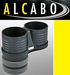 【M's】VW ポロ 6R 5代目(2009y-)ALCABO 高級 リア ドリンクホルダー(ブラック)/※アームレスト無車用 社外品 POLO アルカボ AL-B109B